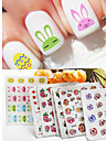 Fashion Flower/cartoon Water Transfer Sticker Nail Art Decals Nails Wraps Watermark Nail Tools