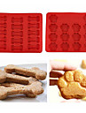 Puppy Pets Dog Paws & Bones Silicone Baking Molds Ice Tray Chocolate Mould,Set of 2