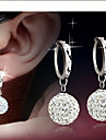 Women\'s Drop Earrings Bridal Elegant Costume Jewelry Rhinestone Alloy Ball Jewelry For Daily Casual