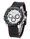 CURREN Men's Military Watch Sport Watch Quartz Japanese Quartz Water Resistant / Water Proof Rubber Band Luxury Black