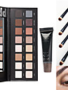 16Fards a PaupieresMiroir Pinceaux de Maquillage Sec Mat Lueur Materiel YeuxGloss paillete Gloss colore Gloss en pot Couverture Longue