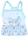 Gato Cachorro Vestidos Roupas para Caes Floral / Botanico Azul Algodao Ocasioes Especiais Para animais de estimacao Mulheres Fashion