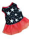 Cat Dog Dress Dog Clothes Stars Black Terylene Costume For Spring &  Fall Summer Women\'s Casual / Daily