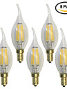 E14 LED лампы накаливания C35 6 светодиоды COB Водонепроницаемый Декоративная Тёплый белый 600lm 2700K AC 220-240V