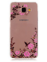 Capinha Para Samsung Galaxy Samsung Galaxy Capinhas Com Strass Transparente Estampada Capa traseira Flor TPU para A5(2016) A3(2016)