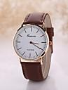 Men\'s Luxury Leather Band White Case Dress Style Watch Jewelry Wrist Watch Cool Watch Unique Watch
