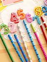Crayon Stylo Crayons Stylo,Bois Baril Noir Couleurs d\'encre For Fournitures scolaires Fournitures de bureau Paquet