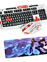 USB 2.4 Gaming Wireless Keyboard Mouse and Pad set  Multimedia Optical Professional Kit Waterproof