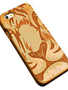 Para Capinha iPhone 5 Case Tampa Estampada Com Relevo Capa Traseira Capinha Animal Rigida Madeira para Apple iPhone SE/5s iPhone 5