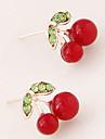 Серьги-гвоздики Мода Белый Красный Зеленый Бижутерия Для вечеринок Повседневные 1 пара