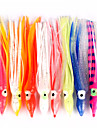 "10 pcs Fishing Lures Soft Bait Octopus Soft Jerkbaits g / Ounce, 12/14/18 mm / 4-3/4"" inch, Soft Plastic Sea Fishing Bait Casting"