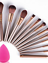 12 Makeup Brush Set Nylon Portable Travel Eco-friendly Professional Full Coverage Wood Eye Face Eyebrow Eyeliner EyeShadow Blush