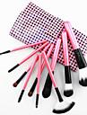 10pcs Professionnel Pinceaux a maquillage ensembles de brosses Pinceau en Poils de Chevre / Pinceau en Fibres Synthetiques / Cheval OEil /