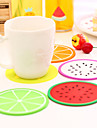 фрукты формы силиконовые подставки коврик чашки случайный цвет