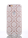 For iPhone 6 Case / iPhone 6 Plus Case Transparent / Pattern Case Back Cover Case Lace Printing Soft TPUiPhone 7 Plus / iPhone 7 / iPhone