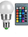 100-200 lm E26 / E27 LED 글로브 전구 A50 1 LED 비즈 고성능 LED 리모컨 작동 RGB 85-265 V / 1개