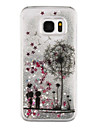 Dandelion Back Cover Flowing Quicksand/Liquid/Other Glitter Shine Plastic(PC) HardSamsung Galaxy S7 edge/Galaxy S7