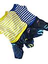 Собака Комбинезоны Одежда для собак В полоску Желтый Синий Хлопок Костюм Назначение Весна & осень Муж. Жен.