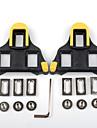 XPT / SPD 6 도 플로트 클리트 도로 자전거 견고함 호환가능 모델 SHIMANO 미끄럼 방지 인조 - 옐로우/블랙 옐로우 / 레드