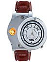 Men's Unisex Fashion Watch Unique Creative Watch Wrist watch Lighter Quartz Rubber Band Vintage Unique Creative Brown