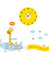 Rond / Nouveaute Moderne/Contemporain / Traditionnel / Decontracte / Bureau / Affaires Horloge murale,Animaux / Famille / Dessin anime