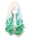 Femme Perruque Synthetique Sans bonnet Frises Cheveux Colores Perruque de Cosplay Perruque Lolita Perruque Deguisement