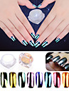 2g/Bag New Manicure Plating Mirror Powder 10 Color Mirror Mirror Glitter Powder Manicure Aurora