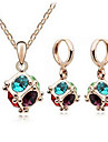 Women\'s Crystal Jewelry Set - Crystal Fashion Include Necklace / Earrings Blue For Party / Daily / Casual