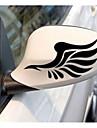 espelho retrovisor do automovel com a sobrancelha luz colar adesivos refletivos em espelho retrovisor do carro com asas