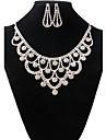 Pentru femei Set bijuterii - Ștras Vintage, Modă Include Colier / cercei Alb Pentru Nuntă Petrecere / Σκουλαρίκια / Coliere