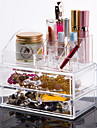 Acrylic Transparent Complex Combined 3 Layer Cosmetics Storage with Double Drawer Cosmetic Organizer