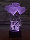 사랑 터치 디밍 3d 주도 밤 빛 7colorful 장식 분위기 램프 참신 조명 조명