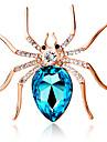 женщин моды личности милый большой паук брошь кристалл алмаза подарок ювелирные изделия изысканный брошь