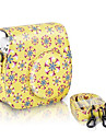 рисунок сумка кожа цветок пу для Fujifilm INSTAX мини 8 мгновенного пленочной камеры, желтый