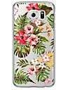Flowers Pattern Soft Ultra-thin TPU Back Cover For Samsung GalaxyS7 edge/S7/S6 edge/S6 edge plus/S6/S5/S4