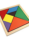 Tangram Educational Toy Jigsaw Puzzle Wooden Puzzles Colorful Classic Boys\' Girls\' 7
