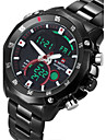 NAVIFORCE® Men's Military Sport Fashion Watch Japanese Quartz Analog-Digital LED/Calendar/Chronograph/Water Resistant/Dual Time Zones/Alarm Cool Watch