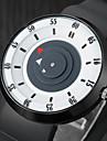 Муж. Модные часы Уникальный творческий часы Кварцевый / Pезина Группа На каждый день Черный Коричневый