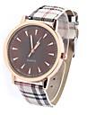 Men\'s Vintage Grid Design Casual Wrist Quartz Watch