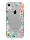 Capinha Para Apple iPhone X iPhone 8 Plus iPhone 7 iPhone 7 Plus iPhone 6 Estampada Capa Traseira Flor Macia TPU para iPhone X iPhone 8