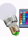 3W E26/E27 Ampoules LED Intelligentes A60(A19) 1 LED Haute Puissance 80 lm RVB / K Intensite Reglable Commandee a Distance AC 85-265 V
