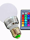 1kpl 3 W 180 lm E26 / E27 LED-älyvalot A60(A19) 1 LED-helmet Teho-LED Himmennettävissä / Kauko-ohjattava / Koristeltu RGB 85-265 V / 1 kpl / RoHs