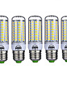 5pcs 10W 980lm E26 / E27 Ampoules Mais LED T 72 Perles LED SMD 5730 Decorative Blanc Chaud Blanc Froid 220-240V