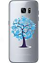 Pour Samsung Galaxy S7 Edge Motif Coque Coque Arriere Coque Arbre Flexible PUT pour Samsung S7 edge S7 S6 edge plus S6 edge S6