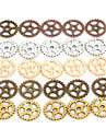 Beadia 50Pcs 15mm Alloy Metal Wheel Gear Charm