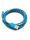 2 pakcs 2м 6 футов микро USB для зарядки и синхронизации данных кабель кабель ткани плетеные тканые для Samsung HTC андроид устройств