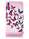 Case For Apple iPhone 6 iPhone 7 Plus iPhone 7 Card Holder Wallet with Stand Flip Pattern Embossed Full Body Cases Butterfly Hard PU