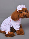 Кошка Собака Пижамы Одежда для собак Косплей Свадьба Животные Желтый Синий Розовый Костюм Для домашних животных