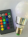 5W 120lm E26 / E27 LED Smart Bulbs G95 1 LED Beads High Power LED Dimmable Remote-Controlled RGB 85-265V 220-240V