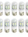 10pcs 2W 280-350lm E26 / E27 Ampoules Mais LED T 27 Perles LED SMD 5730 Decorative Blanc Chaud Blanc Froid 9-30V 85-265V